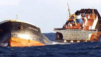 Спасение судов после разлома